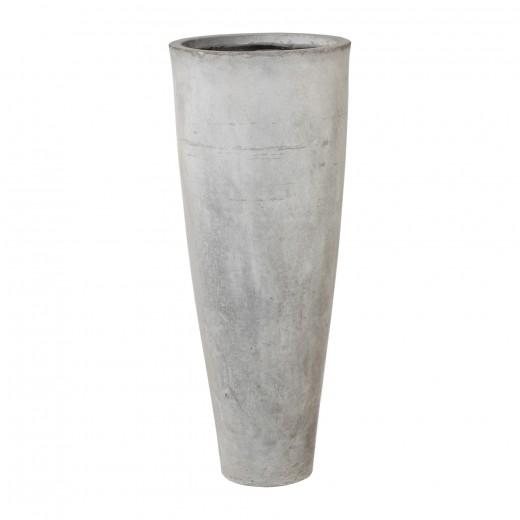 Set 3 ghivece din Fiberclay Vase Gri, Ø25xH60 / Ø33xH80 / Ø41xH100 cm