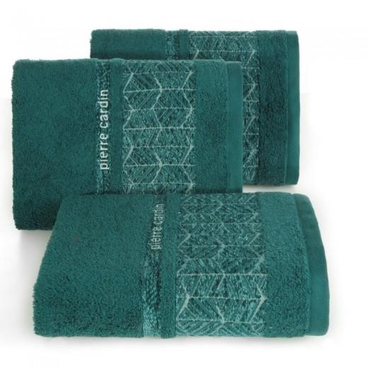 Set 3 prosoape baie din bumbac Teo Pierre Cardin Verde inchis