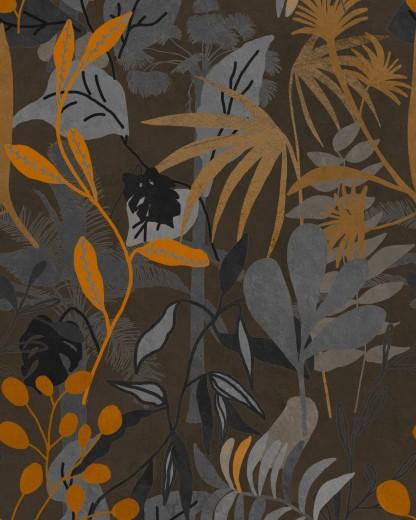Set 3 role Tapet Imprimat Digital Caribbean Garden Dark