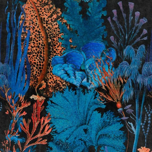 Set 3 role Tapet Imprimat Digital Coral Reef Ultramarine