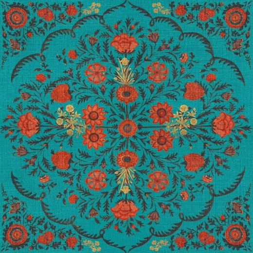 Set 3 role Tapet Imprimat Digital Hindu Bloom Topaz