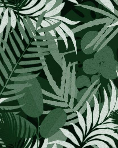 Set 3 role Tapet Imprimat Digital Jardin Del Sol Green