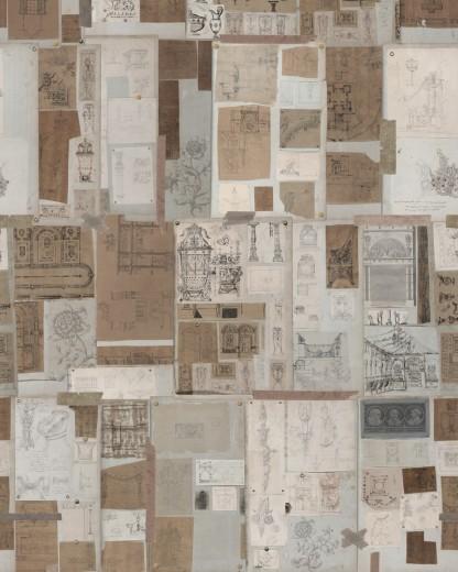 Set 3 role Tapet Imprimat Digital The Sketch Book