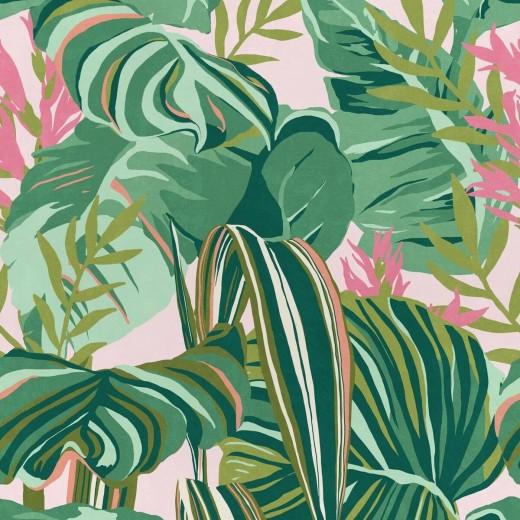 Set 3 role Tapet Imprimat Digital Tropical Foliage