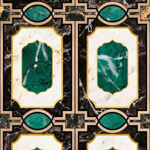Set 3 role Tapet Imprimat Digital Waldorf Emerald