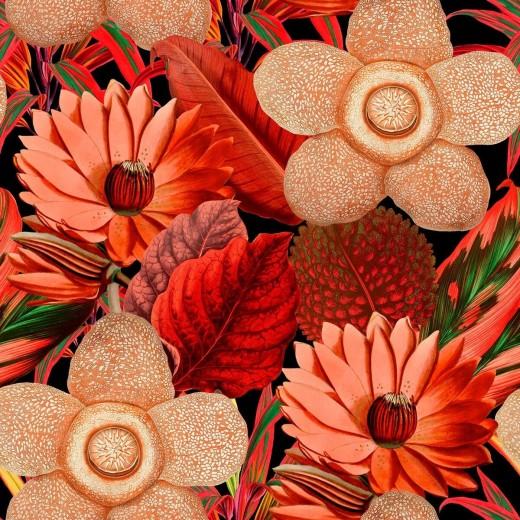 Set 3 role Tapet Imprimat Digital Water Lilies