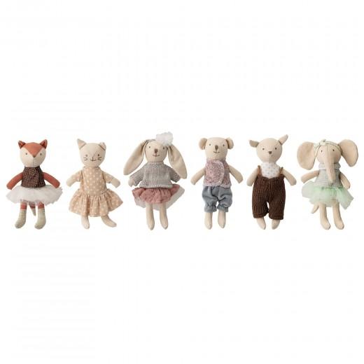 Set 6 jucarii Animal Friends, Multicolor