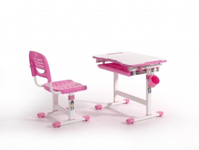 Set birou pentru copii, reglabil pe inaltime Comfortline Roz, L66,4xl47,4xH54 cm
