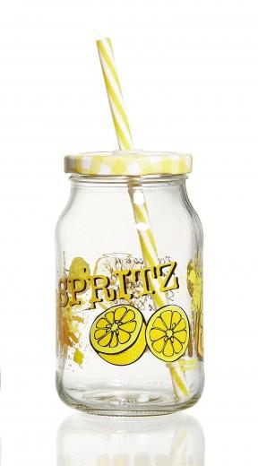 Set borcane cu pai si capac Spritz, Flirt, 450 ml, 6 piese