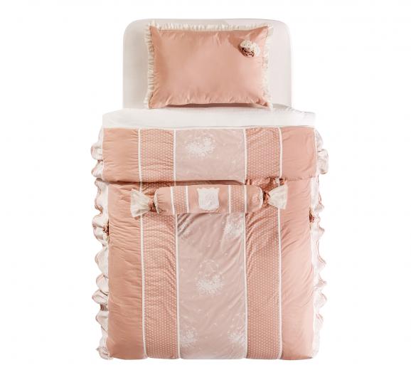 Set cuvertura pat copii si 1 perna decorativa Dream Somon