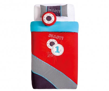 Set cuvertura pat copii si 2 perne decorative Bispread Multicolor