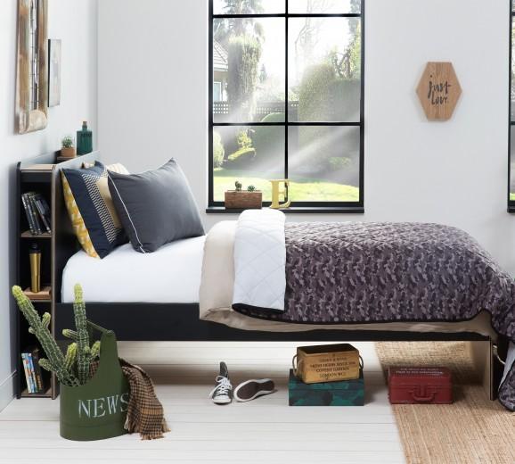 Set cuvertura reversibila pat copii si fata de perna Hide Grey / Multicolour, 145 x 230 cm
