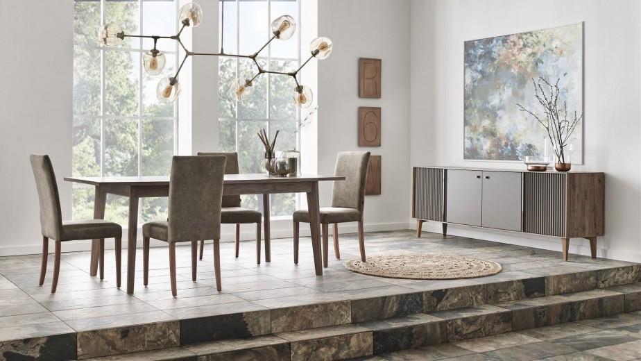Set de mobila dining din pal, 6 piese Elita Natural