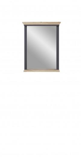 Oglinda decorativa cu rama din MDF, Jessie Grafit, l65xH83 cm