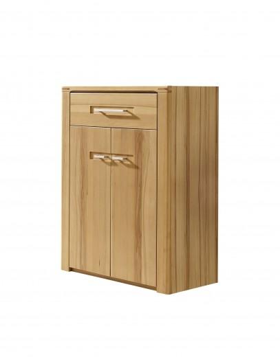 Cabinet hol din pal, cu 2 usi si 1 sertar, Natur Plus, l74xA40xH100 cm