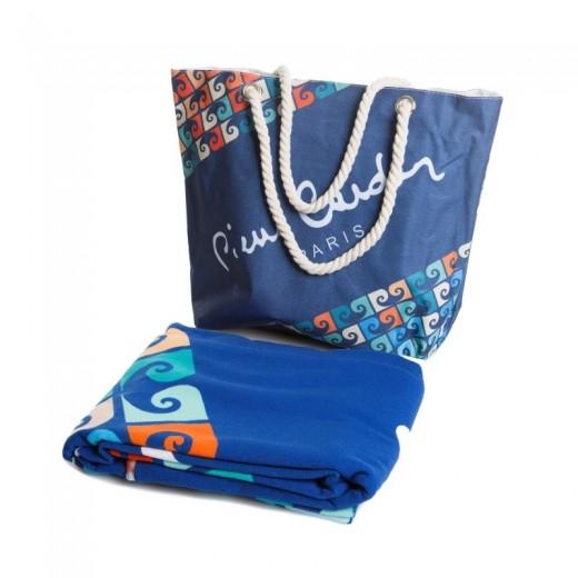 Set geanta si prosop de plaja Paul Pierre Cardin Multicolor, 100 x 180 cm