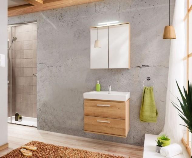 Set Mobilier pentru baie, 3 piese, Remik Riviera Oak