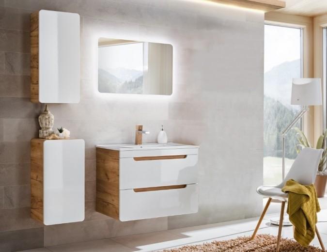 Set Mobilier pentru baie, 4 piese, Aruba White XL