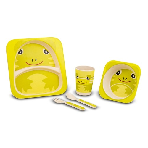 Set vesela pentru copii Frog, 5 piese