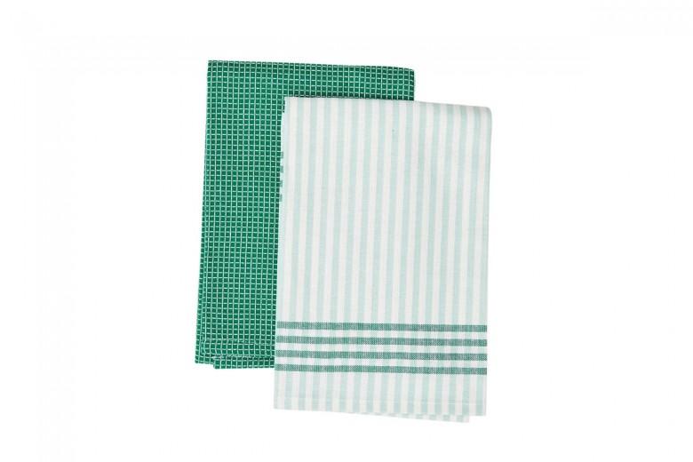Set prosoape de bucatarie 45 x 70 cm, Evergreen, Jamie Oliver, 2 buc