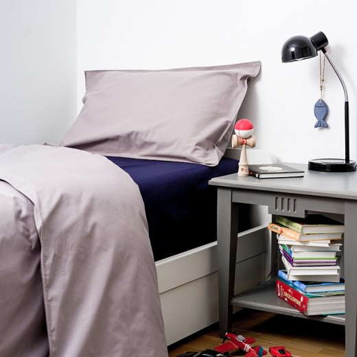 Lenjerie de pat copii Taupe & Ink