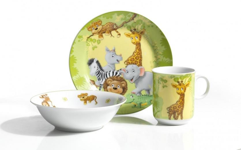 Set vesela pentru copii Jungle, 3 piese