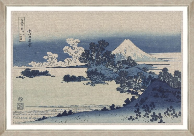 Tablou Framed Art Shichiri Ga Hama By Hokusai