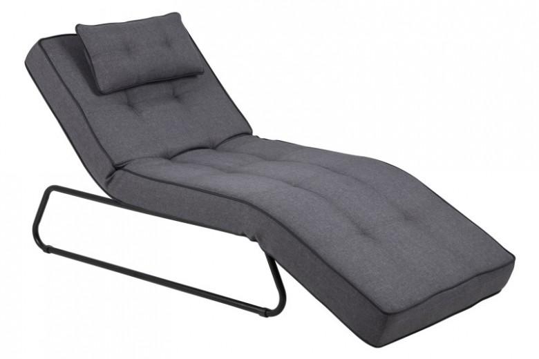 Fotoliu de relaxare tapitat cu stofa Shore Grey, l79xA116xH96 cm