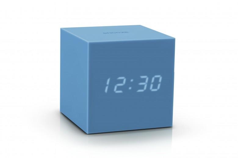 Ceas inteligent cu senzor de alarma Gravity Cube Click Clock Skyblue