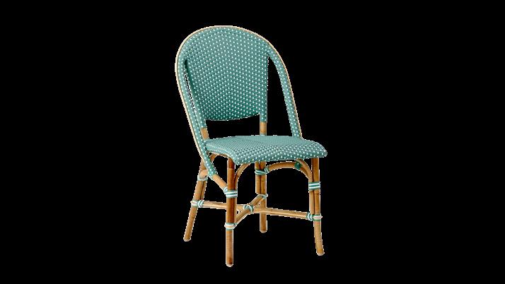 Scaun din ratan Sofie Green Mint, l50xA56xH89 cm