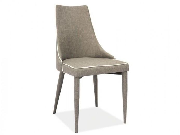 Scaun tapitat cu stofa, cu picioare metalice Soren Grey, l49xA46xH92 cm
