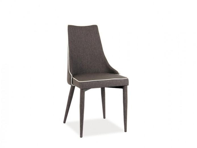 Scaun tapitat cu stofa, cu picioare metalice Soren Brown, l49xA46xH92 cm