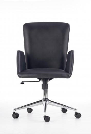Scaun de birou ergonomic tapitat cu piele ecologica Soul Black, l55xA56xH98-105 cm