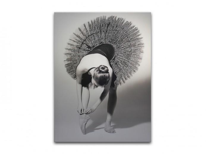 Tablou Canvas Glam Balerina, 60x80 cm