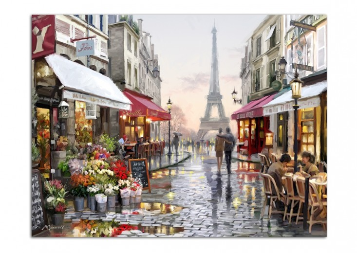 Tablou Canvas Watercolor Paris