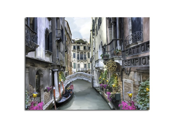 Tablou Canvas Watercolor Venice II, 60x80 cm