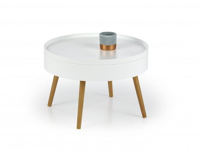 Masa de cafea din MDF si lemn Starlet, Ø60xh40 cm