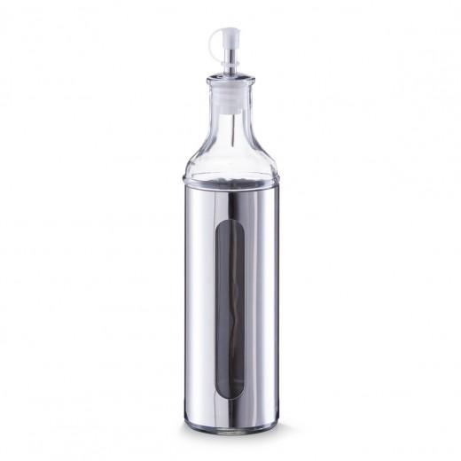 Sticla pentru ulei / otet Visual, inox si sticla, Silver 500 ml, Ø 6,5xH28 cm