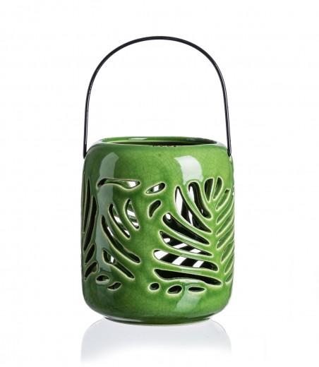 Suport lumanare Jungle, Ceramica, Ø14xH16 cm