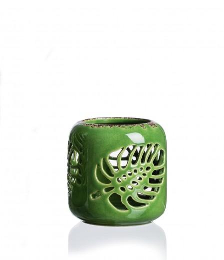 Set suporturi lumanare Jungle, Ceramica, Ø8xH9 cm, 4 piese
