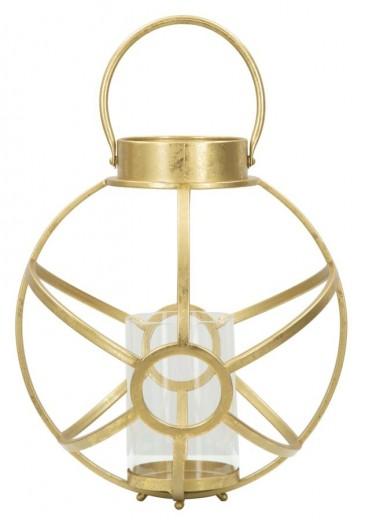 Suport metalic pentru lumanare Oxy Gold, Ø29xH42,5 cm