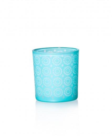 Set suporturi lumanare Rom Blue, Sticla, Ø8xH8 cm, 4 piese
