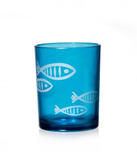 Set suporturi lumanare Rom Fish, Sticla, Ø8xH8 cm, 4 piese