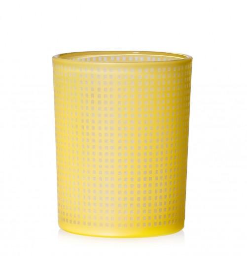 Suport lumanare Rom Yellow, Sticla, Ø11xH14 cm