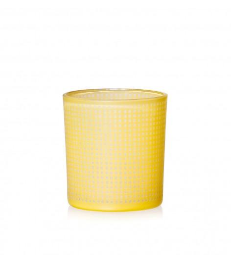 Set suporturi lumanare Rom Yellow, Sticla, Ø8xH8 cm, 4 piese