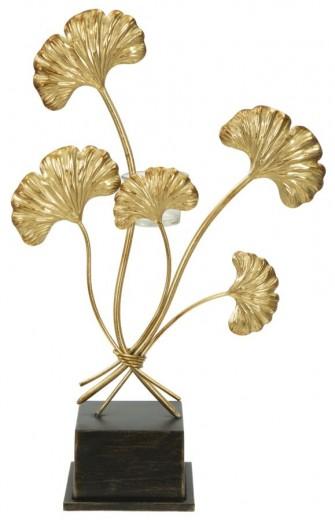 Suport metalic pentru lumanari Iris Gold, l29xA12,5xH44 cm