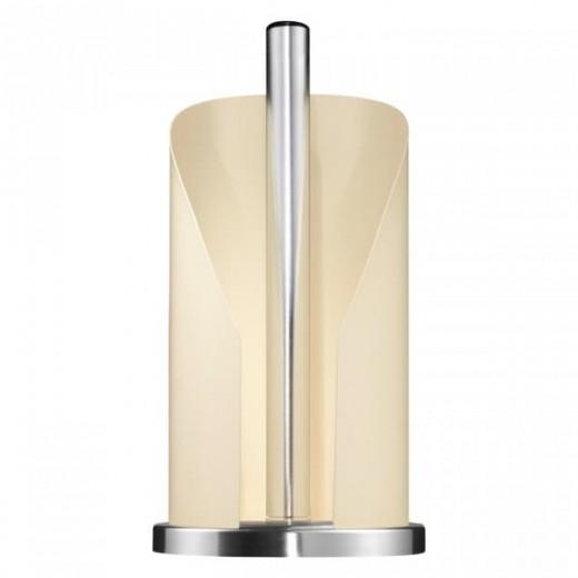 Suport metalic pentru role de bucatarie Paper Holder Crem, Ø15,5xH30 cm
