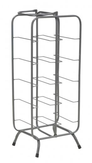 Suport metalic pentru sticle Rack 10 Gri inchis, l28xA23xH67 cm
