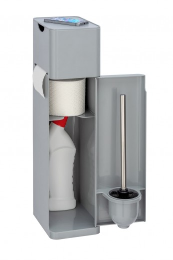 Suport multifunctional pentru baie, 6-in1 Imon Gri, l20xA15xH58,5 cm