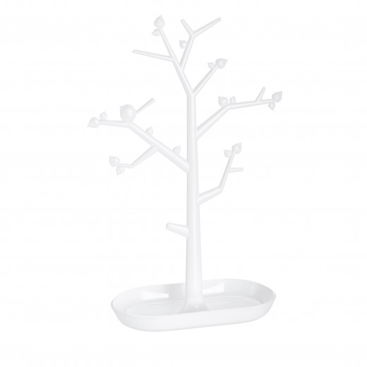 Suport pentru bijuterii din termoplastic Trinket Tree II Alb, l27,6xA12,8xH43,8 cm